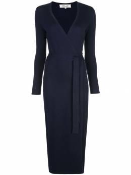 Dvf Diane Von Furstenberg трикотажное платье тонкой вязки с запахом 13334DVF