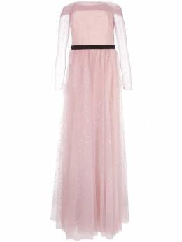Marchesa Notte вечернее платье из тюля с открытыми плечами N34G1016