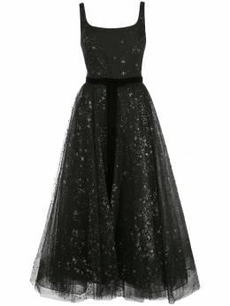 Marchesa Notte платье из тюля с блестками N34M1037