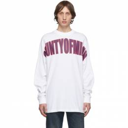Marcelo Burlon County Of Milan White Over Long Sleeve T-Shirt CMAB036F1901101101A7