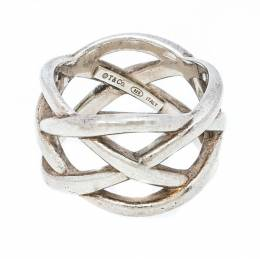 Tiffany & Co. Celtic Knot Silver Band Ring Size 51 220777