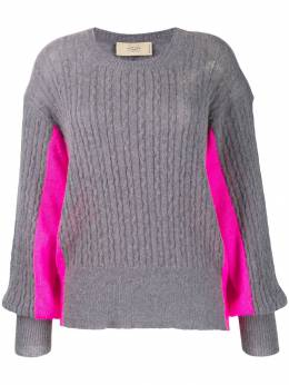 Maison Flaneur oversized two-tone jumper 19WMDSW420FA008