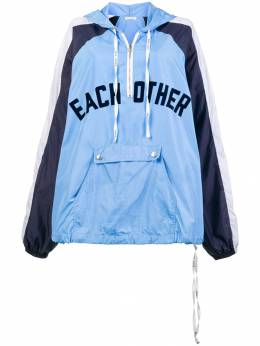 Each X Other front logo rain hoodie FW18G13065