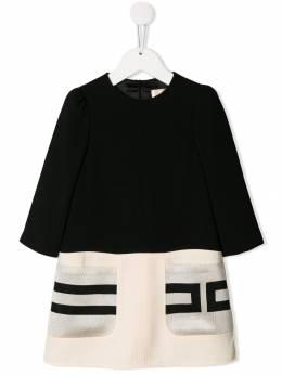 Elisabetta Franchi La Mia Bambina платье-трапеция с трикотажными карманами EFAB226GA37