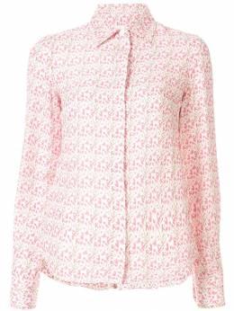 Victoria Beckham рубашка строгого кроя с цветочным принтом SHSLM11024APAW19