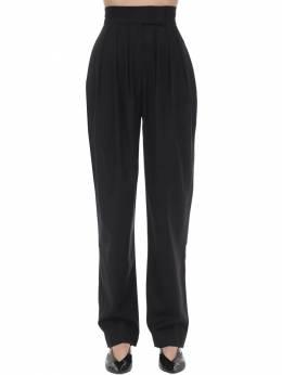 High Waist Wool Blend Pants Materiel 70IX6R014-QkxDSw2