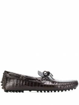 Car Shoe мокасины с тиснением под крокодила KUD006435