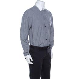Roberto Cavalli Class Gingham Checked Cotton Contrast Collar Shirt 3XL 222395