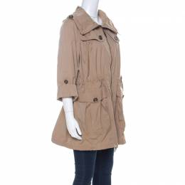 Burberry Beige Detachable Hood Bageford Anorak Jacket M 223860