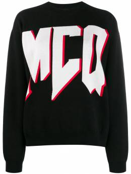 MCQ by Alexander McQueen джемпер с контрастным логотипом 540074RMK23