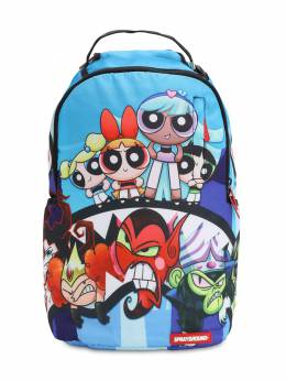 Powerpuff Girls Printed Canvas Backpack Sprayground 70IOEN025-TVVMVElDT0xPUg2