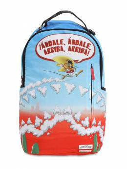 Speedy Gonzales Printed Canvas Backpack Sprayground 70IOEN024-TVVMVElDT0xPUg2