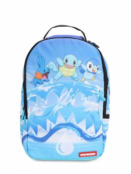 Pokemon Shark Printed Canvas Backpack Sprayground 70IOEN019-TElHSFQgQkxVRQ2