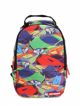Money Car Printed Canvas Backpack Sprayground 70IOEN013-TVVMVElDT0xPUg2