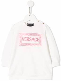 Young Versace - платье с вышитым логотипом 66685YA66633YA08A955
