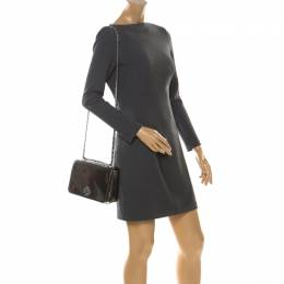 Tory Burch Olive Green Patent Leather Mercer Shoulder Bag 221207