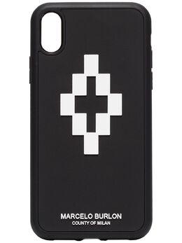 Marcelo Burlon County Of Milan чехол для iPhone XR с логотипом CMPA013F190080501001