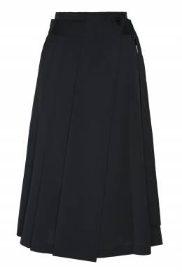 Синяя юбка-миди с поясом Low Classic 1408151374