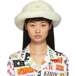 Kirin Off-White Faux-Fur Smile Bucket Hat KWLA001F190200290240