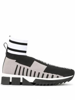 Dolce&Gabbana кроссовки-носки в стиле колор-блок CK1654AZ882