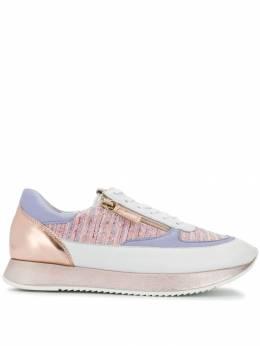 Hogl кроссовки на шнуровке со вставками 71013264782