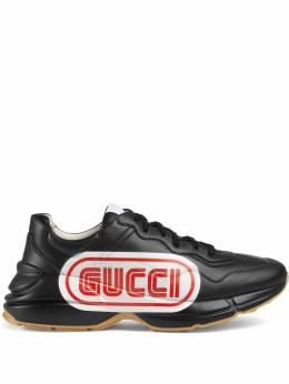 Gucci кроссовки 'Rhyton' с принтом Gucci 523609DRW00