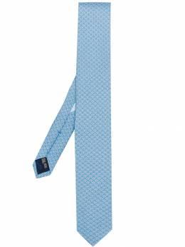Salvatore Ferragamo галстук с узором Gancini 712133