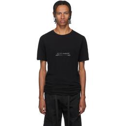 Unravel Black Jersey Elongated T-Shirt UMAA010F192080071001