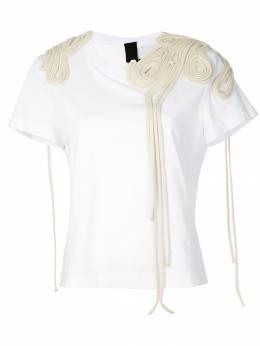 Vera Wang футболка с вышивкой R419T26
