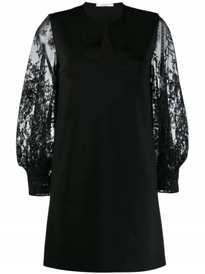 Givenchy платье с кружевными рукавами BW20SS4Z5U - 1