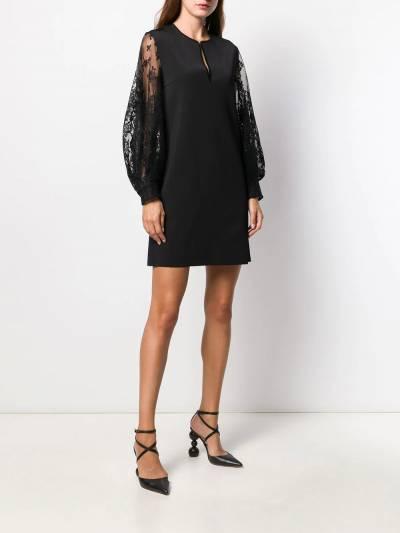 Givenchy платье с кружевными рукавами BW20SS4Z5U - 2