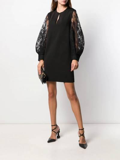 Givenchy платье с кружевными рукавами BW20SS4Z5U - 3