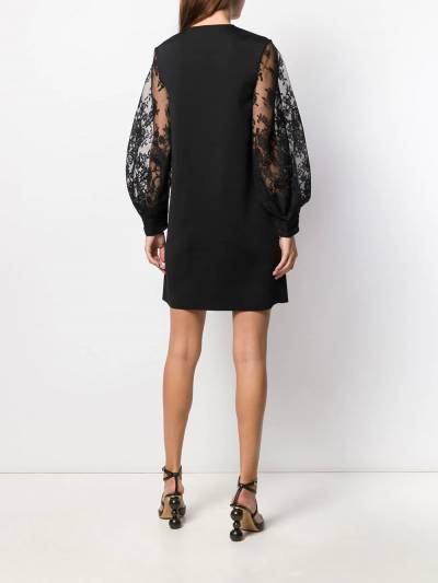 Givenchy платье с кружевными рукавами BW20SS4Z5U - 4