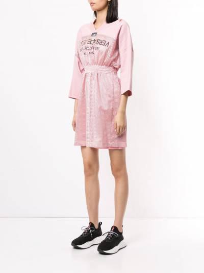 Versace Jeans Couture - платье с сетчатыми вставками TB560658309508639500 - 3