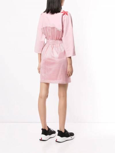 Versace Jeans Couture - платье с сетчатыми вставками TB560658309508639500 - 4