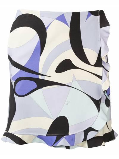 Emilio Pucci - юбка Alex с оборками и принтом V069U336939693800000 - 1