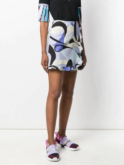 Emilio Pucci - юбка Alex с оборками и принтом V069U336939693800000 - 3