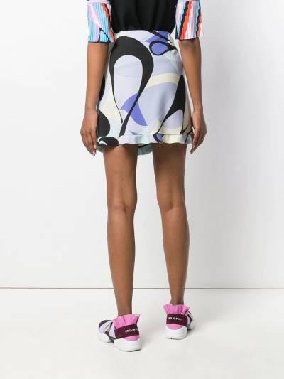 Emilio Pucci - юбка Alex с оборками и принтом V069U336939693800000 - 4