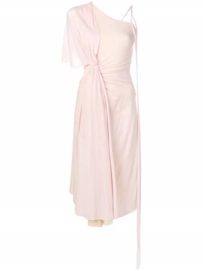 Esteban Cortazar - платье на одно плечо со сборками 99936630990000000000 - 1