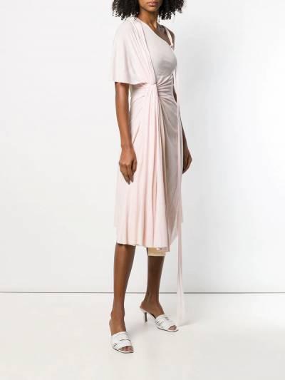 Esteban Cortazar - платье на одно плечо со сборками 99936630990000000000 - 3