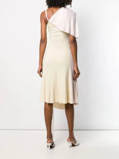 Esteban Cortazar - платье на одно плечо со сборками 99936630990000000000 - 4