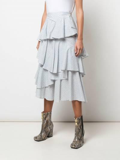 Alexa Chung - ярусная юбка с оборками 6CO03395555893000000 - 3
