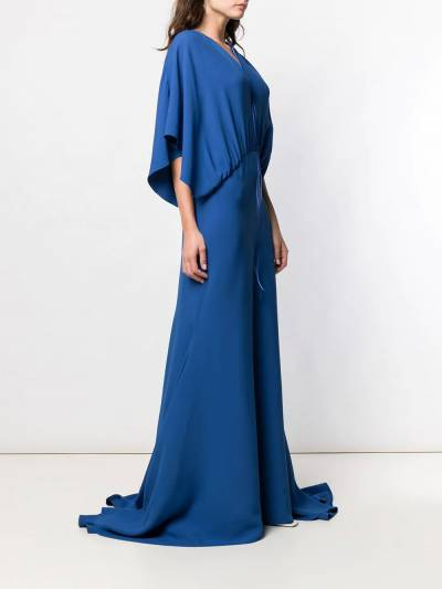 Esteban Cortazar - длинное платье с драпировками 05936630980000000000 - 3