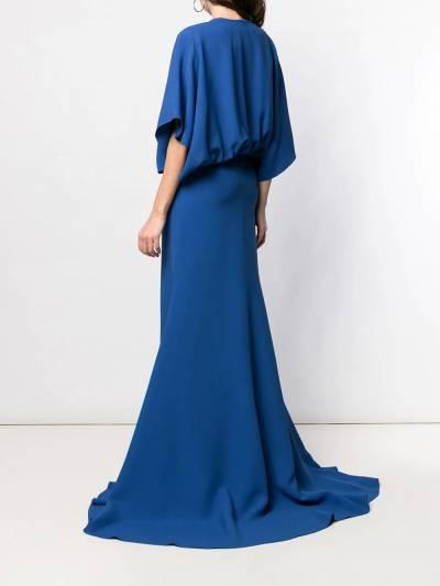 Esteban Cortazar - длинное платье с драпировками 05936630980000000000 - 4