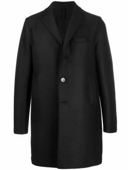 Harris Wharf London однобортное пальто миди C9101MLK
