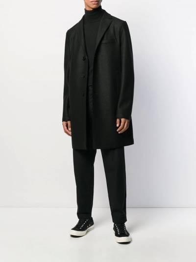 Harris Wharf London однобортное пальто миди C9101MLK - 2