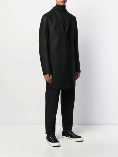 Harris Wharf London однобортное пальто миди C9101MLK - 3