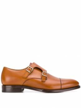 Berwick Shoes туфли монки с двойной пряжкой 3637H156
