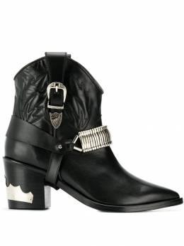 Toga Pulla ковбойские ботинки с металлическими деталями FTGPWJ72009005