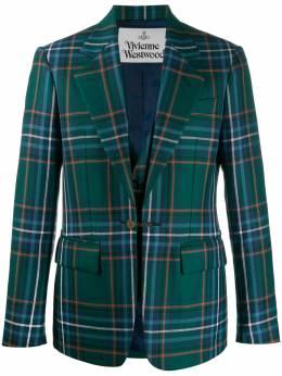 Vivienne Westwood однобортный пиджак в клетку S25BN0420S52266001F